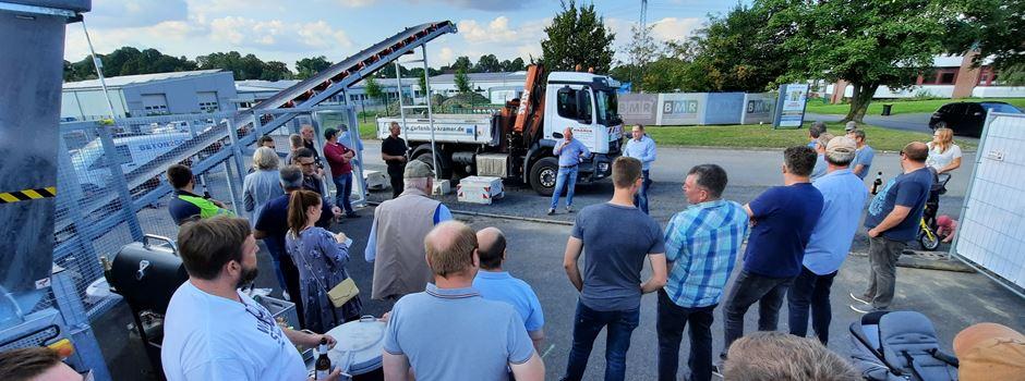 Sowas gab's noch nie in Waltrop: Beton-Tankstelle hat Betrieb aufgenommen