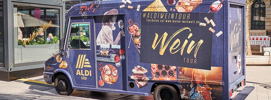 Der Wein-Truck von Aldi macht im Sommer Halt in Wiesbaden
