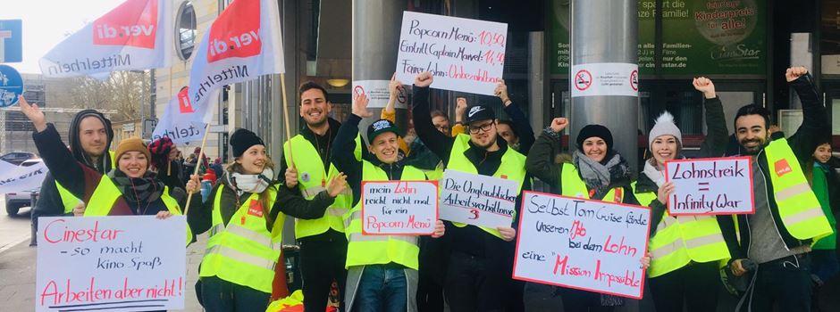 Cinestar-Mitarbeiter streiken in Mainz