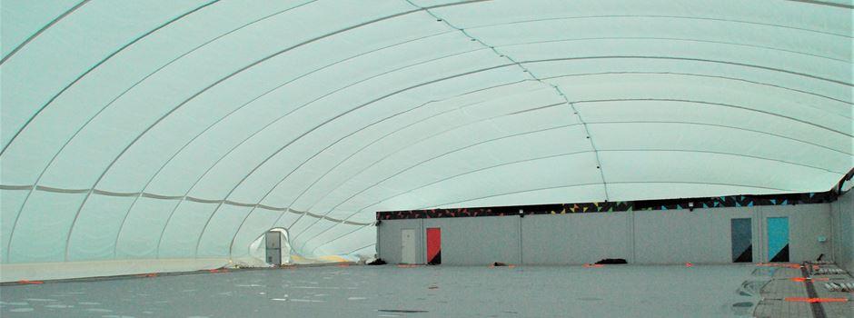 Mainzer Taubertsbergbad bekommt neue Traglufthalle für halbe Million Euro