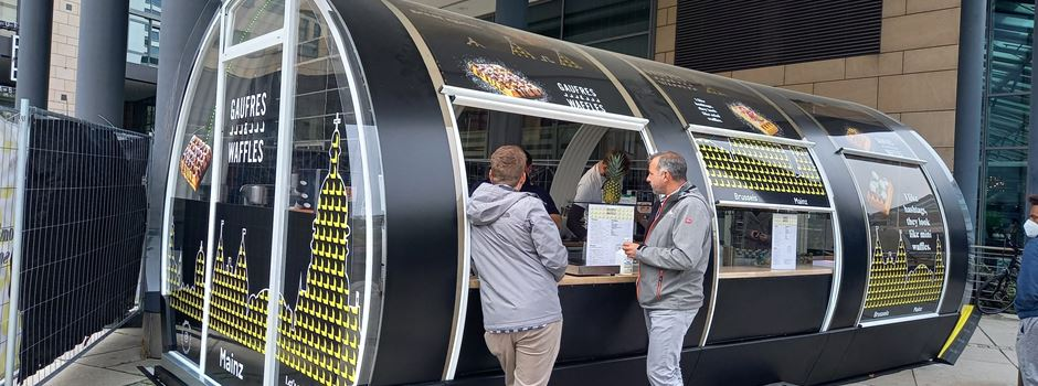 In Mainz werden jetzt belgische Gourmet-Waffeln verkauft
