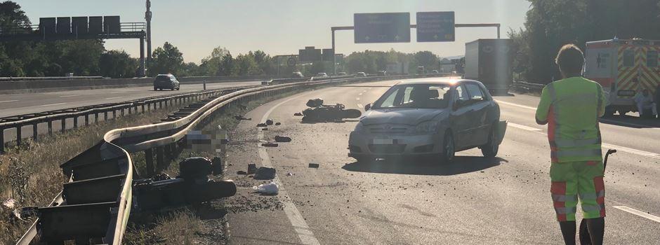 Motorradfahrer stirbt bei Unfall auf der A3