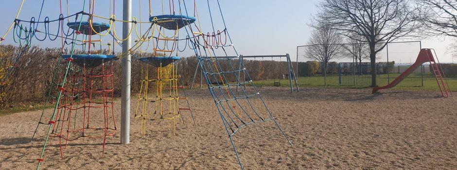 Neue Kletterpyramide am Ranzeler Spielplatz Schwanenweg