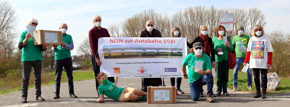 Bürgerinitiativen und GRÜNE gemeinsam gegen die Rheinspange 553