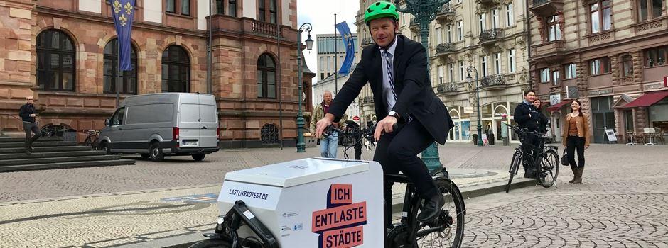 Wiesbadener bekommen bis zu 1000 Euro, wenn sie sich ein Lastenrad kaufen