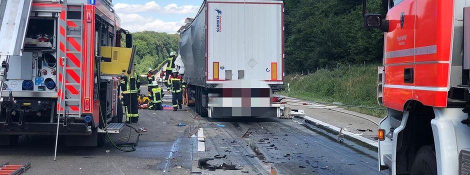 UPDATE: Schwerer Unfall zwischen zwei Lkw auf der A3