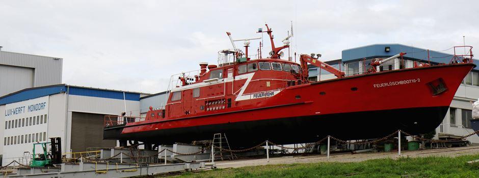 Mondorf: Feuerlöschboote zu Gast in der Lux-Werft