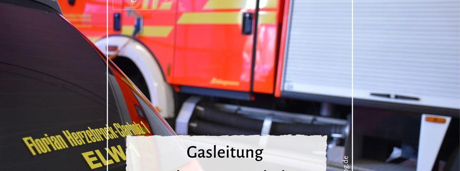 Gasleitung an der B64 angebohrt