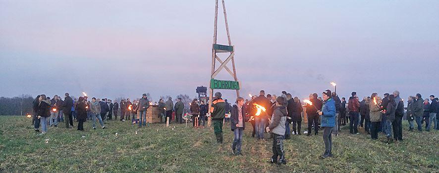 Aktion gegen Gasbohren
