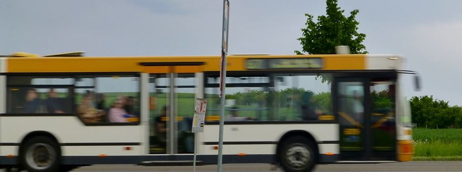 Steinwurf auf Stadtbus