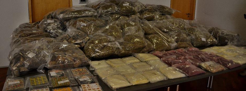 LKA stellt 649 Kilo Drogen sicher und nimmt elf Tatverdächtige fest