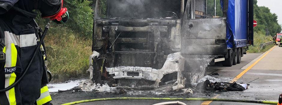 Nach Lkw-Brand: Stau auf der A3