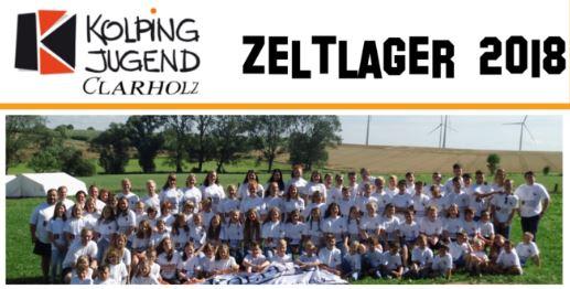 Zeltlager 2018 der Kolpingjugend Clarholz