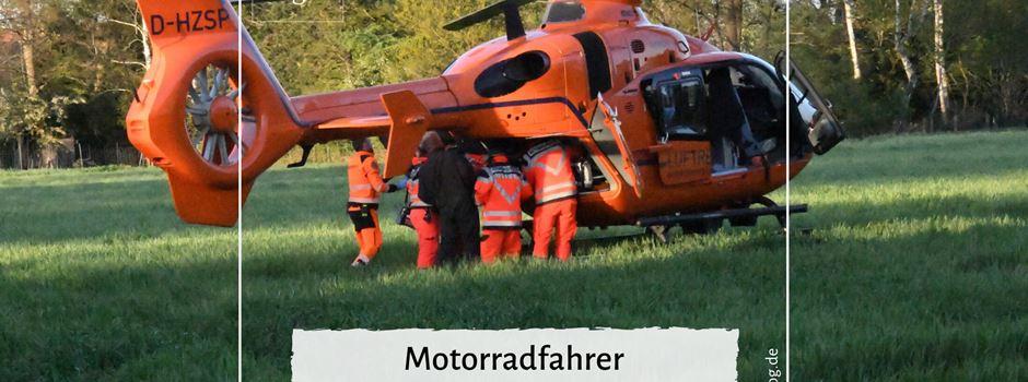 Motorradfahrer lebensgefährlich verletzt