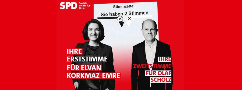 Wahlwerbung: Ihre Erststimme für Elvan Korkmaz-Emre