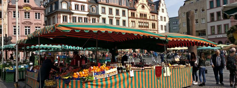 Weiterhin erweiterte Maskenpflicht auf den Mainzer Wochenmärkten