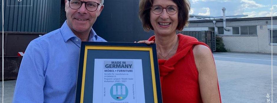 """Anzeige: Disselkamp erhält Label """"Möbel made in Germany"""""""
