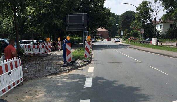 Baustelle an der Letter Straße in Clarholz
