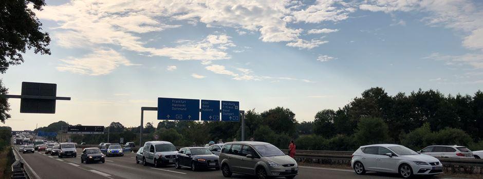UPDATE: Sperrung nach Auffahrunfall auf A66 wieder aufgehoben