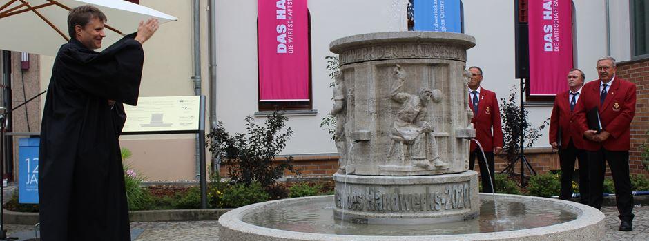 Handwerksbrunnen eingeweiht