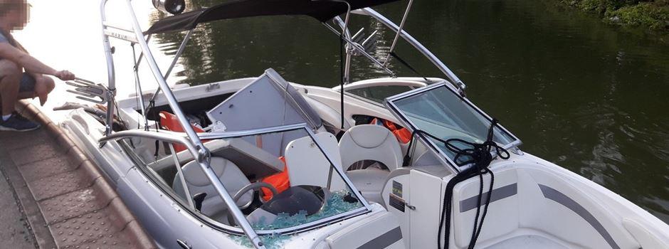 Verpuffung auf Sportboot