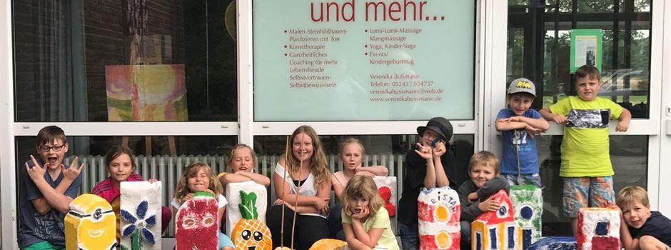 Ferienspiele: Ytongsteine gestalten