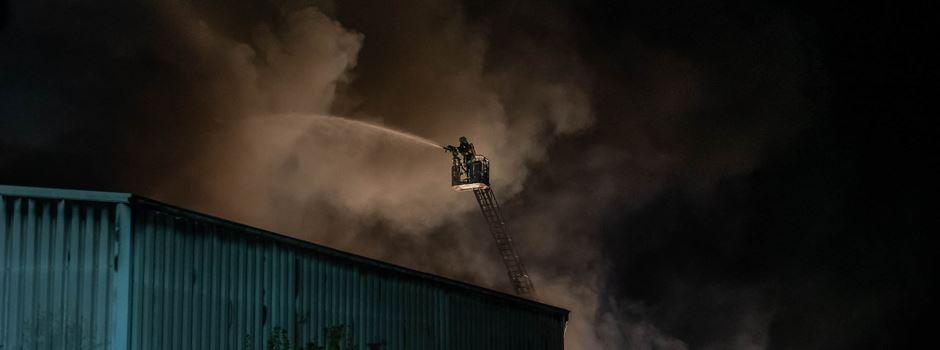 500.000 Euro Schaden nach Brand in Lagerhalle