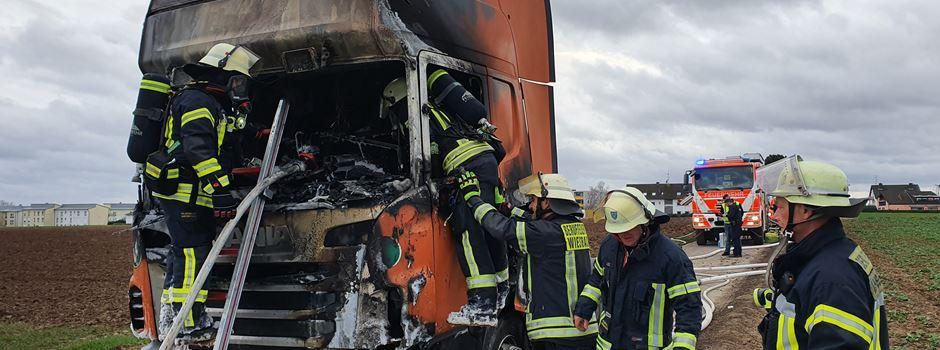 Lkw brennt in Nordenstadt aus