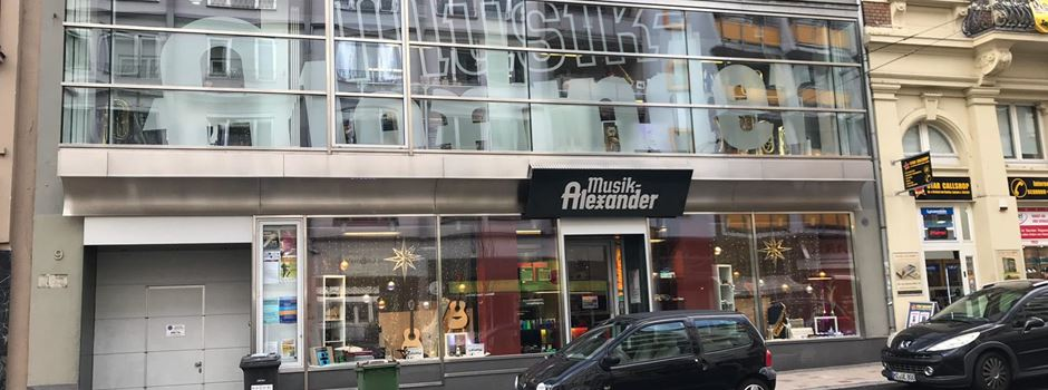 """""""Musik Alexander"""" in der Bahnhofstraße schließt"""