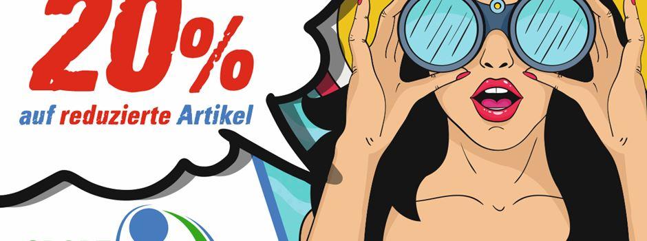 Anzeige: 20% Rabatt Aktion bei Sport Weckenbrock und Herzogs