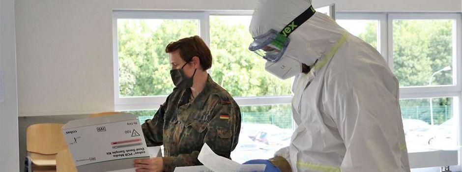 Gau-Bickelheim: Bundeswehr hilft beim Corona-Massen-Test