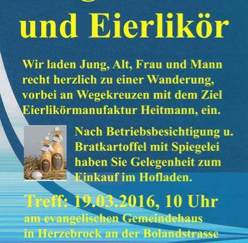 Männer aktiv - Wegekreuze und Eierlikör bei Hof Heitmann