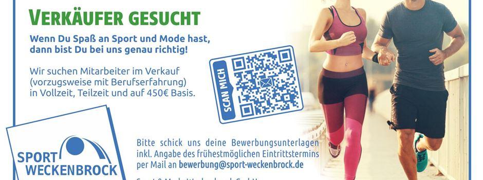 Stellenanzeige: Sport Weckenbrock sucht Mitarbeiter im Verkauf