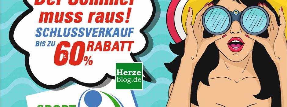 Anzeige: Schlußverkauf bei Sport Weckenbrock