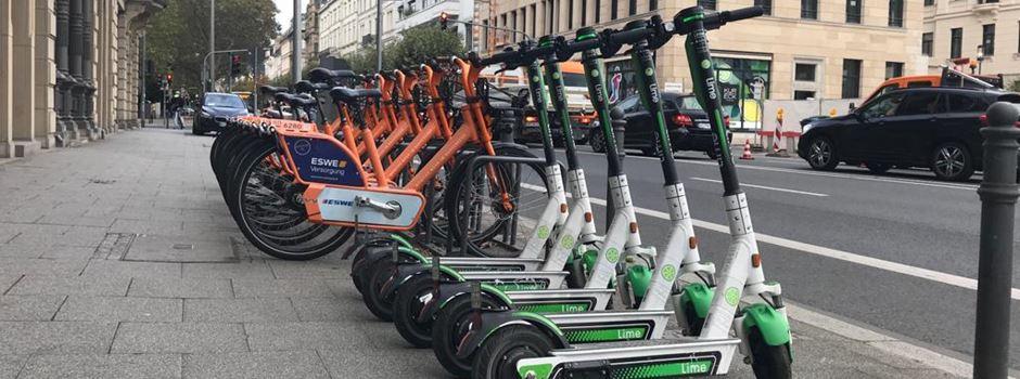 Warum Lime seine E-Scooter aus Wiesbaden abgezogen hat