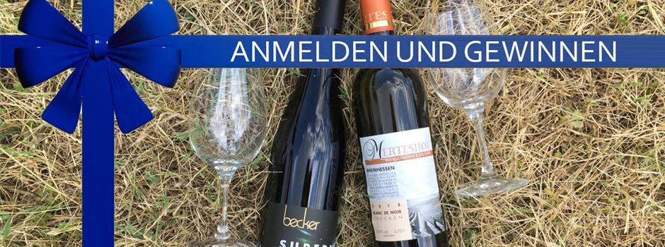 Registrieren und Weinpaket gewinnen