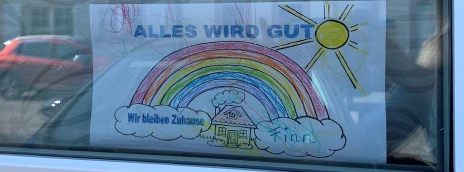 Kinder Malen Regenbogen Bilder Wir Bleiben Zuhause Und Alles Wird Gut