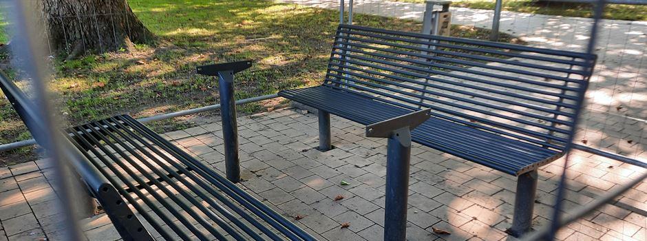 Metall-Tischplatten aus dem Park geklaut: Security streift, Sperrstunde letztes Mittel