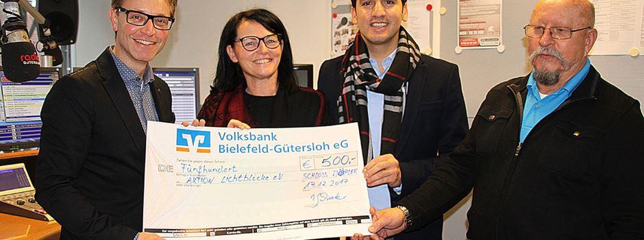 """""""Glüch Dich glücklich"""" spendet 500 EURO"""