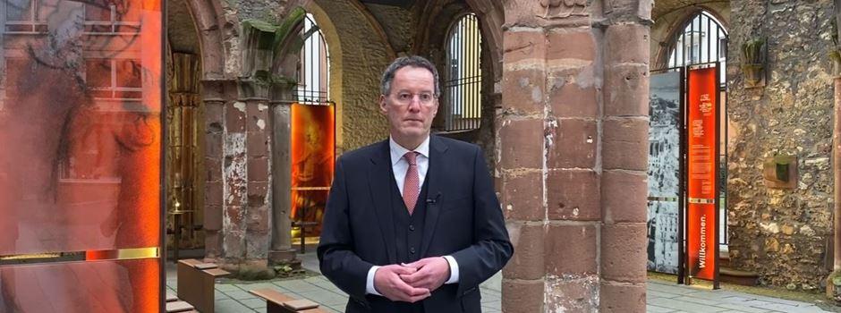Videobotschaft: OB Ebling gedenkt Opfern des Bombenangriffs auf Mainz