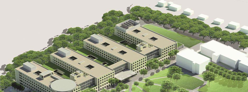 Der HSK-Neubau feiert Richtfest