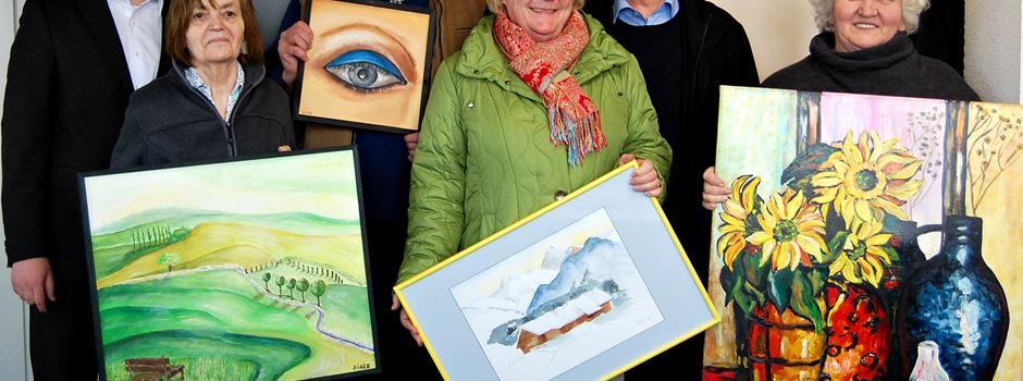 Montagsmaler präsentieren Ihre Bilder im Rathaus Herzebrock-Clarholz