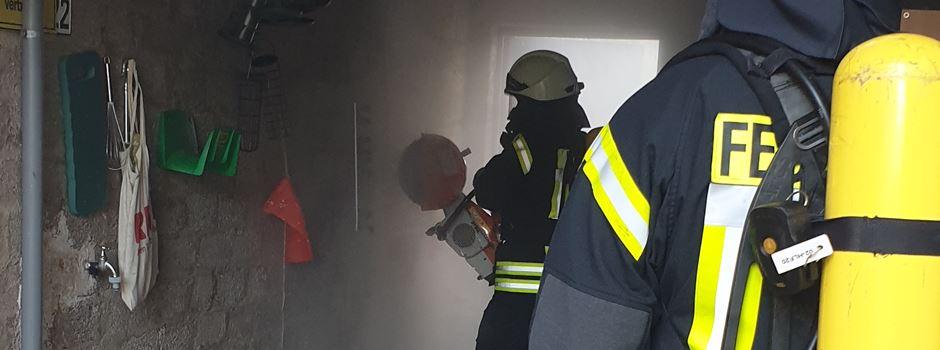 Gefährlicher Brand in Rheidt