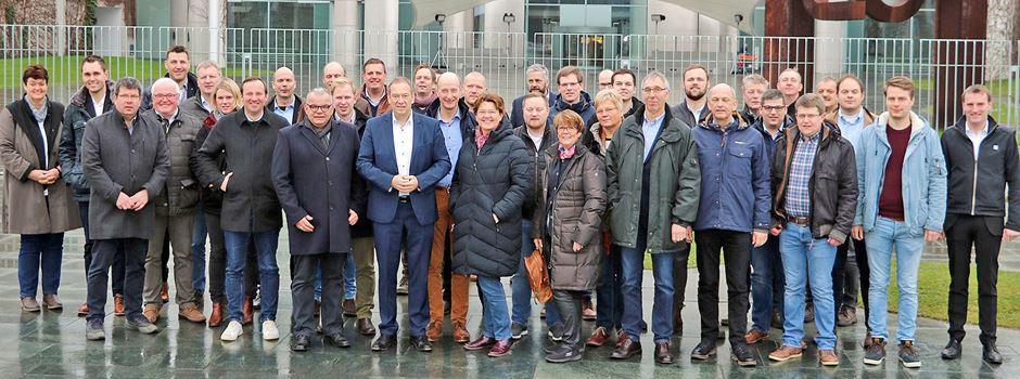 Gespräche mit Landwirten in Berlin