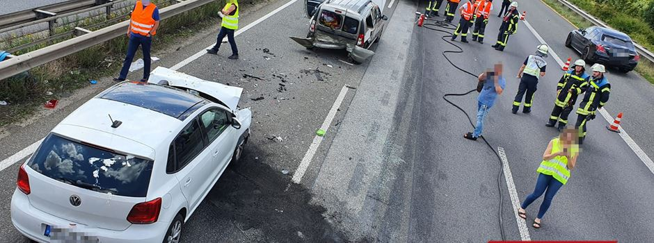 A60 nach Unfall zeitweise gesperrt