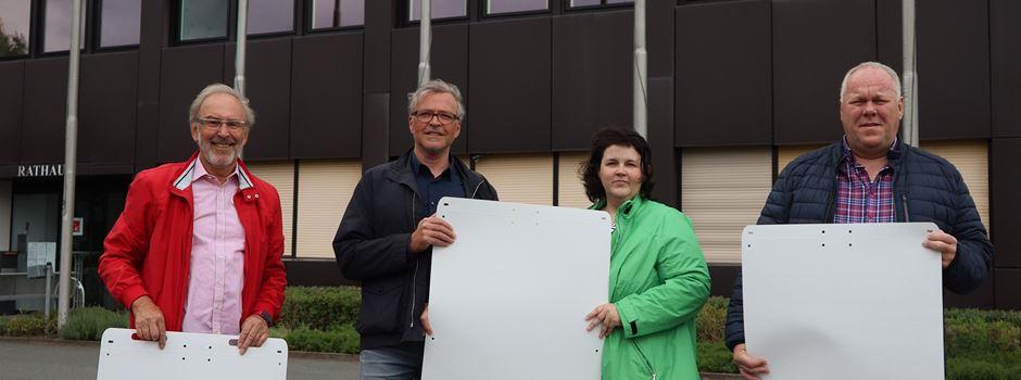Reduzierte Plakatierung zur Bundestagswahl in Herzebrock-Clarholz