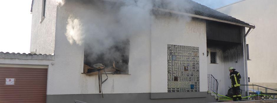 Feuer in Einfamilienhaus in Drais