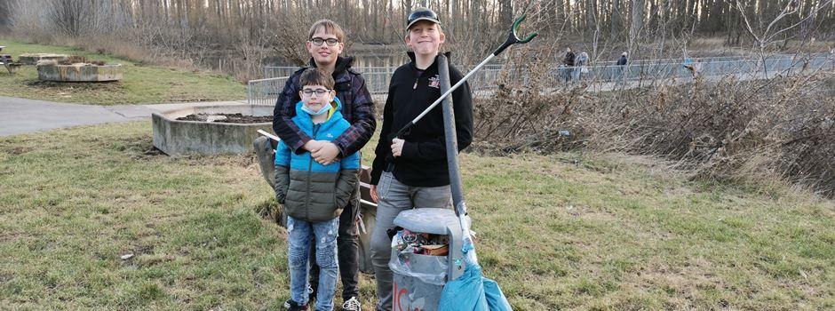 Stadt ehrt Niederkasseler Kids für Müllsammelaktion