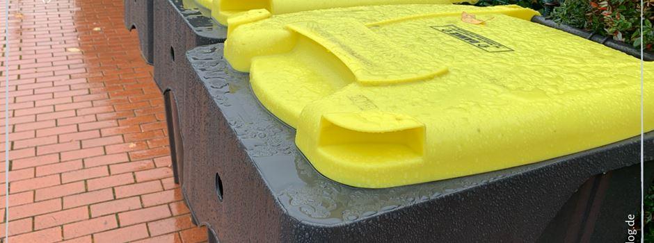 Abholung Gelbe Tonne erst in KW 51