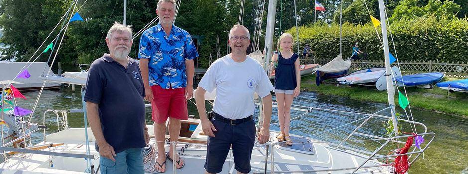 """""""Lütte Heidjer"""" getauft: Soltauer Segelverein hat ein neues Boot"""
